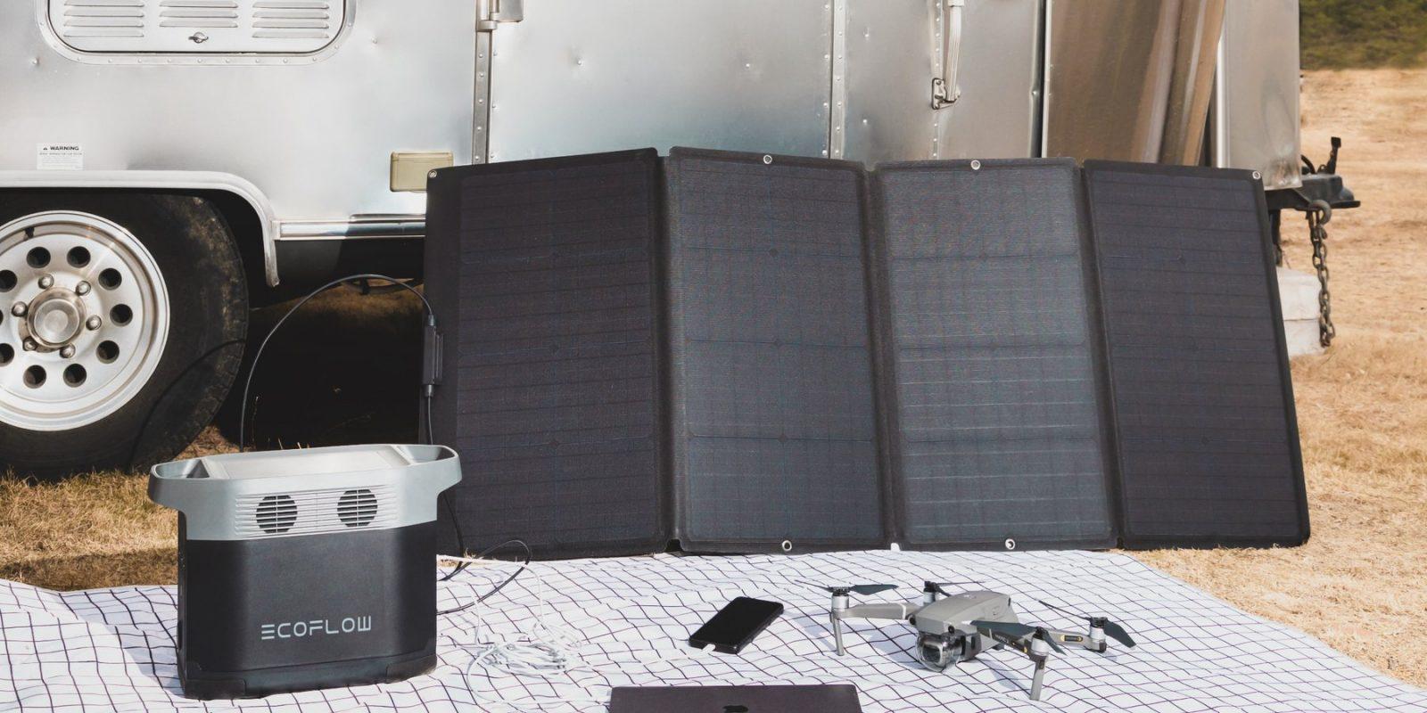 EcoFlow 160W Solar Pane Lifestyle 2