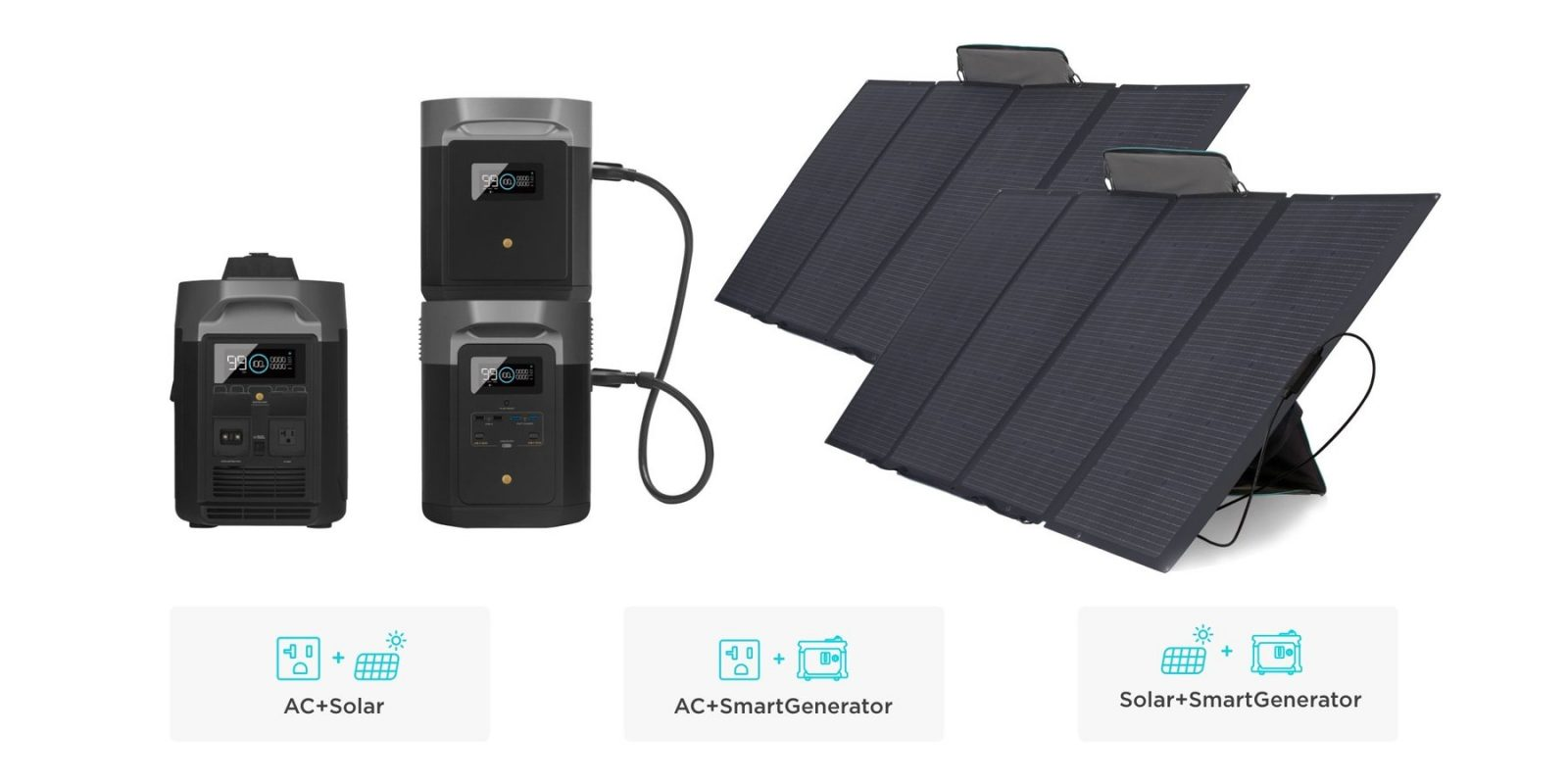 EcoFlow Delta Max Smart Extra Battery Convenient and Fast Dual Charging